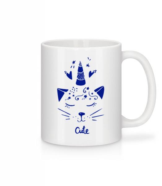 Cute Unicorn Cat - Mug - White - Front