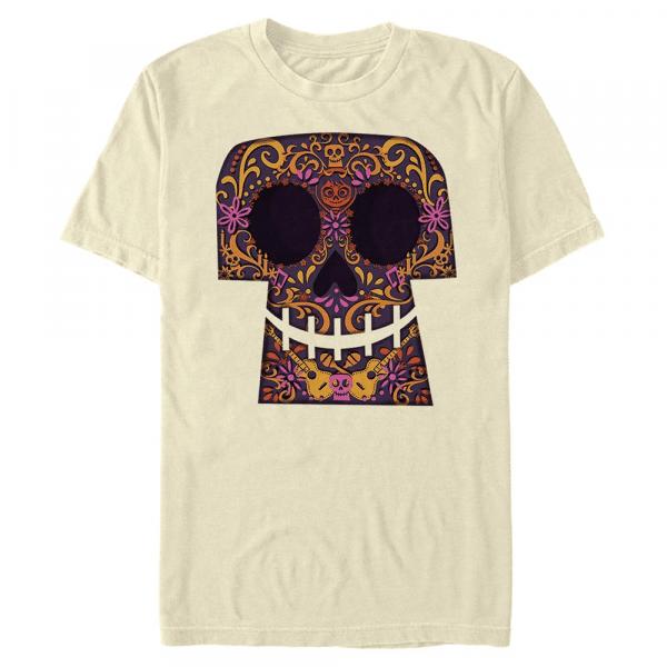 Paper Cut Coco Skulls - Pixar - Men's T-Shirt - Cream - Front