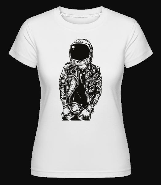 Astronaut Punkster -  Shirtinator Women's T-Shirt - White - Vorn