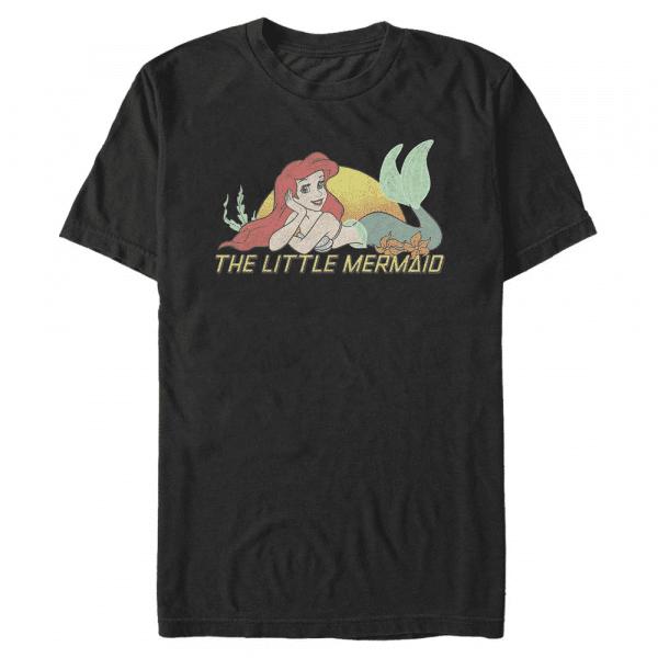 Tired of Swimming Ariel - Disney The Little Mermaid - Men's T-Shirt - Black - Front