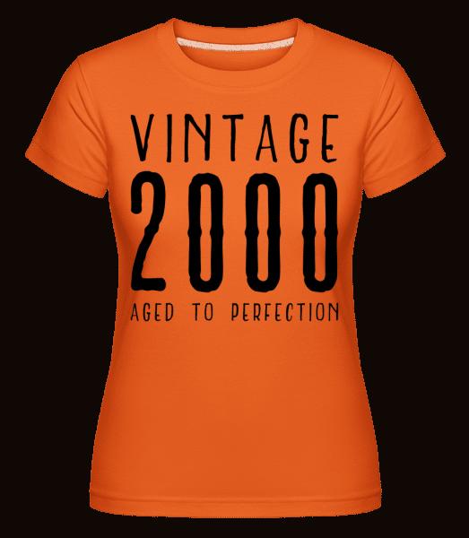 Vintage 2000 Aged To Perfection - Shirtinator Frauen T-Shirt - Orange - Vorn
