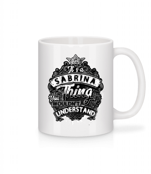 It's A Sabrina Thing - Mug - White - Front