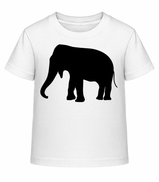 silueta slon - Detské Shirtinator tričko - Biela - Predné