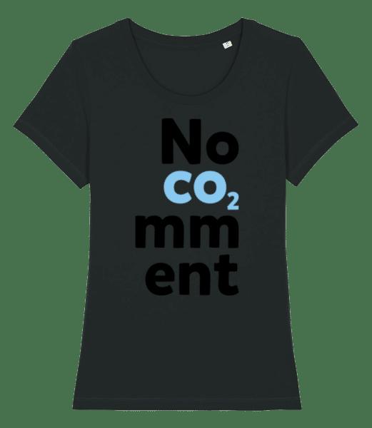 No Comment - Frauen Premium Bio T-Shirt Stanley Stella - Schwarz - Vorn