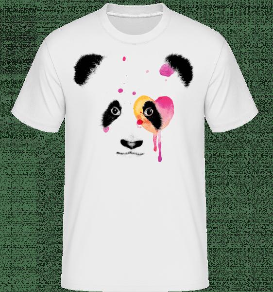 Watercolor Panda -  Shirtinator Men's T-Shirt - White - Vorn