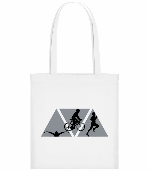 Triathlon - Stoffbeutel - Weiß - Vorn