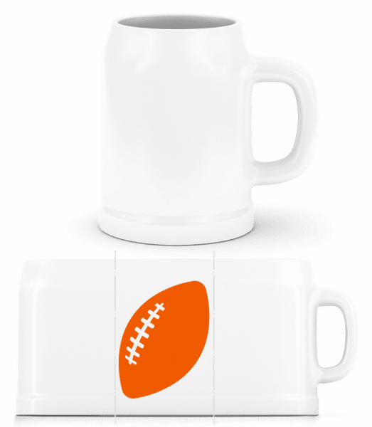 Rugby Comic - Beer Mug - White - Vorn