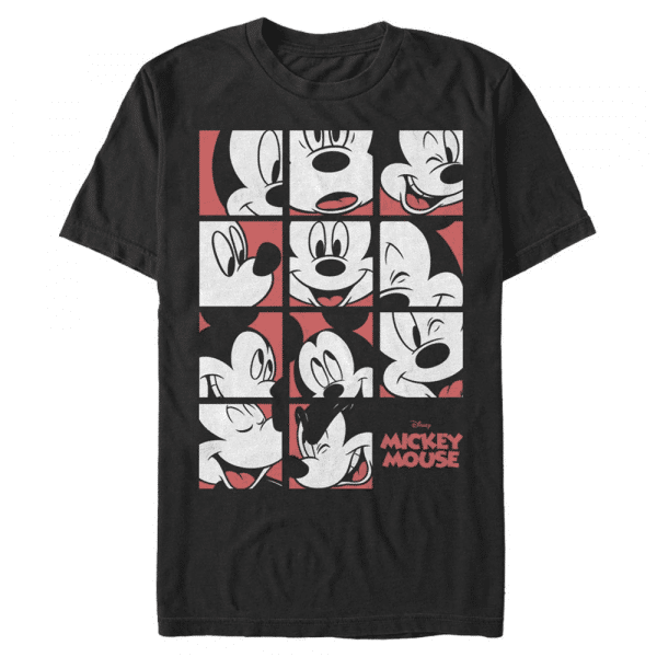 Mickey Mouse Expression Grid - Disney - Men's T-Shirt - Black - Front