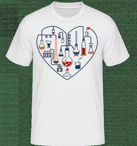 Wissenschaft Liebe - Shirtinator Männer T-Shirt - Weiß - Vorn