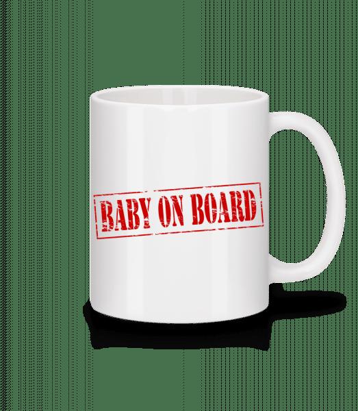 Baby On Board - Tasse - Weiß - Vorn