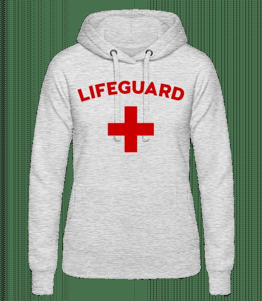 Lifeguard - Frauen Hoodie - Grau meliert - Vorn