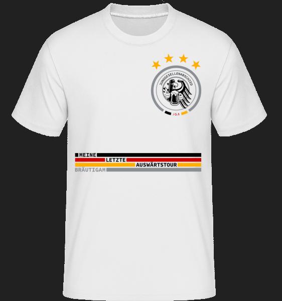 Letzte Auswärtstour Team Bräutigam - Shirtinator Männer T-Shirt - Weiß - Vorn