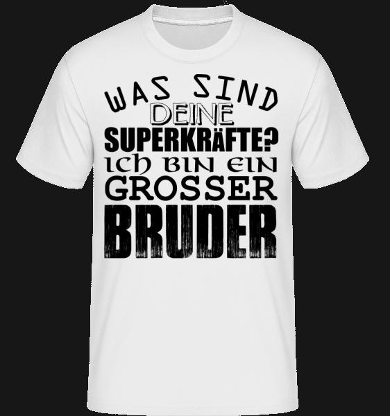 Superkräfte Grosser Bruder - Shirtinator Männer T-Shirt - Weiß - Vorn