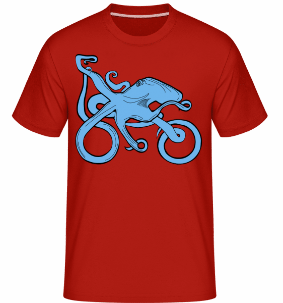 Motorcycle Octopus -  Shirtinator Men's T-Shirt - Red - Vorn