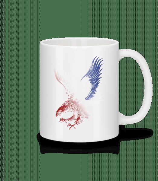 Amerikanischer Adler - Tasse - Weiß - Vorn