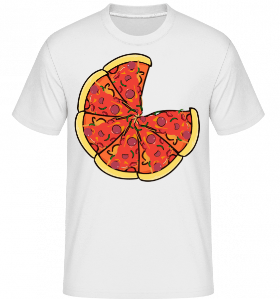 Pizza -  Shirtinator Men's T-Shirt - White - Vorn