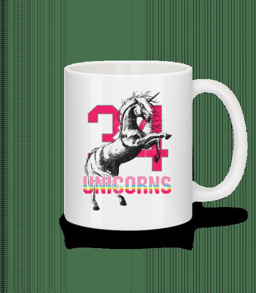 34 Unicorns - Mug - White - Front