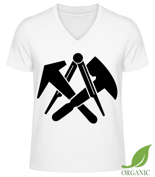 DIY Symbols - Männer Bio V-Neck T-Shirt - Weiß - Vorn