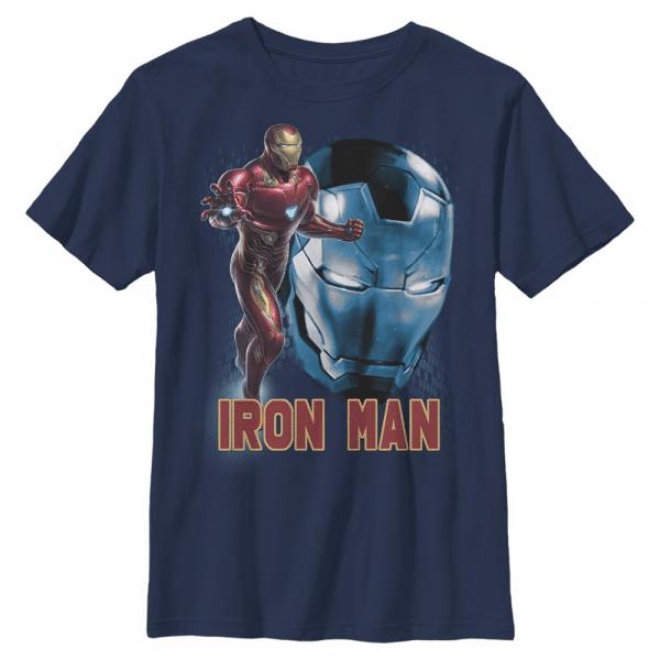 Ironman Profile Iron Man - Marvel Avengers Endgame - Kids T-Shirt - Navy - Front