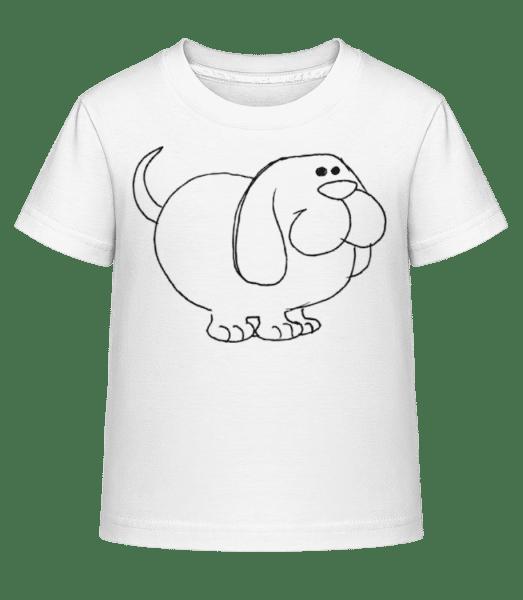 Kids Comic - Dog - Kid's Shirtinator T-Shirt - White - Vorn