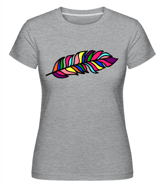 Feather Sign Rainbow -  Shirtinator Women's T-Shirt - Heather grey - Front