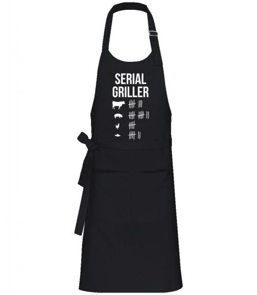 Serial Griller - Professional Apron - Black - Front