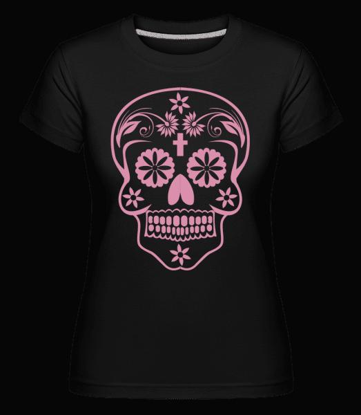 Día de los Muertos Skull -  Shirtinator Women's T-Shirt - Black - Vorn