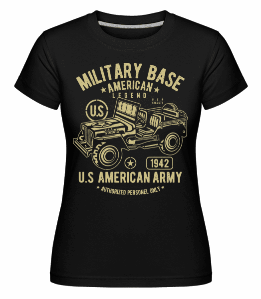 American Army Jeep -  Shirtinator Women's T-Shirt - Black - Front