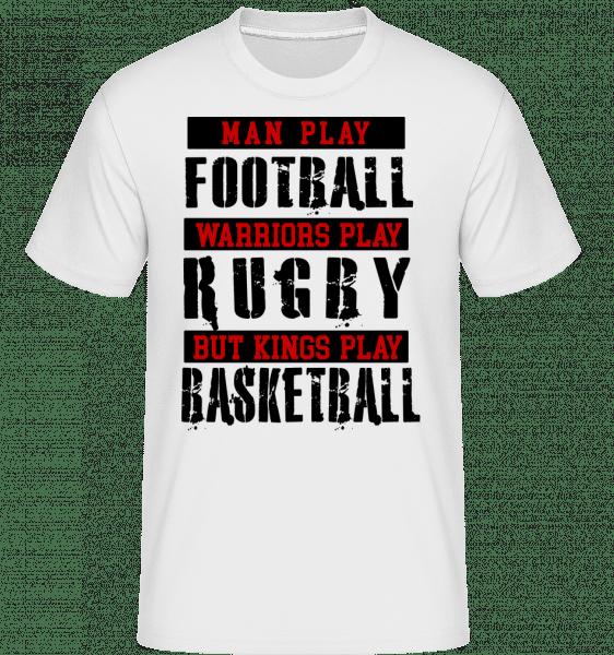 Kings hrát basketbal -  Shirtinator tričko pro pány - Bílá - Napřed