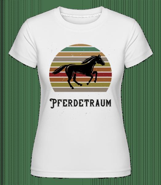 Pferdetraum - Shirtinator Frauen T-Shirt - Weiß - Vorn