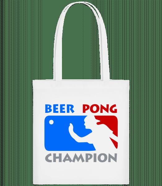 Beer Pong Champion - Stoffbeutel - Weiß - Vorn