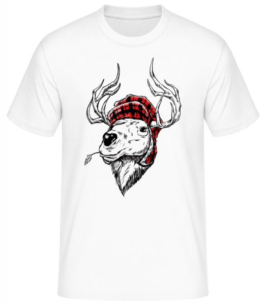 Christmas Reindeer - Men's Basic T-Shirt - White - Front