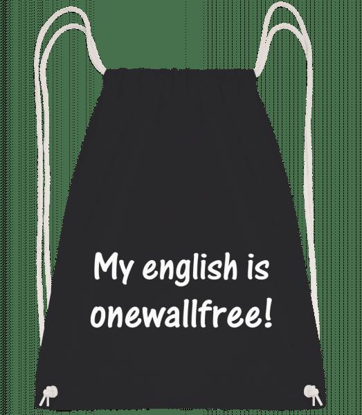 Onewallfree English - Turnbeutel - Schwarz - Vorn