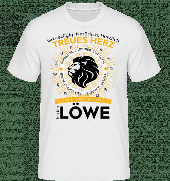 Sternzeichen Löwe - Shirtinator Männer T-Shirt - Weiß - Vorn