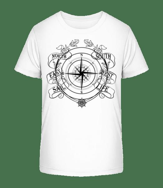 Sailing Compass - Kid's Premium Bio T-Shirt - White - Vorn