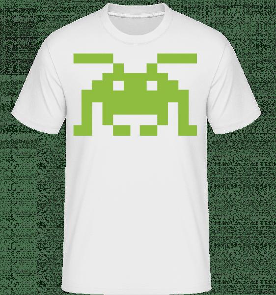 Monstre Pixel -  T-Shirt Shirtinator homme - Blanc - Vorn