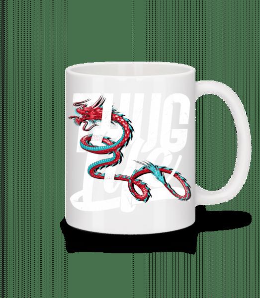 Thug Life Dragon - Mug - White - Vorn