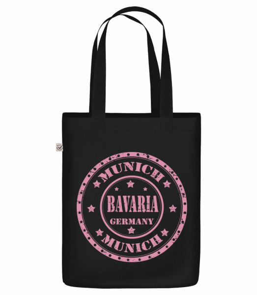 "Munich Bavaria - Organic ""Earth Positive"" tote bag - Black - Vorn"