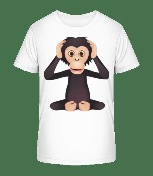 Deaf Monkey - Kid's Premium Bio T-Shirt - White - Vorn