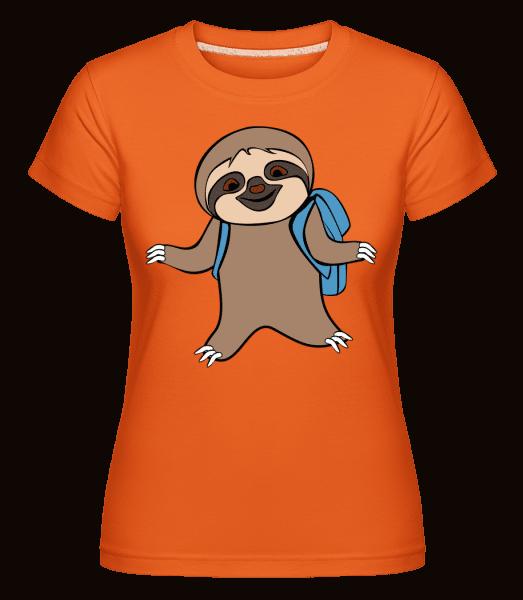 Cute Sloth With Bag -  Shirtinator tričko pre dámy - Oranžová - Predné