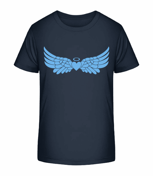 Angel Heart With Wings - Kid's Premium Bio T-Shirt - Navy - Front