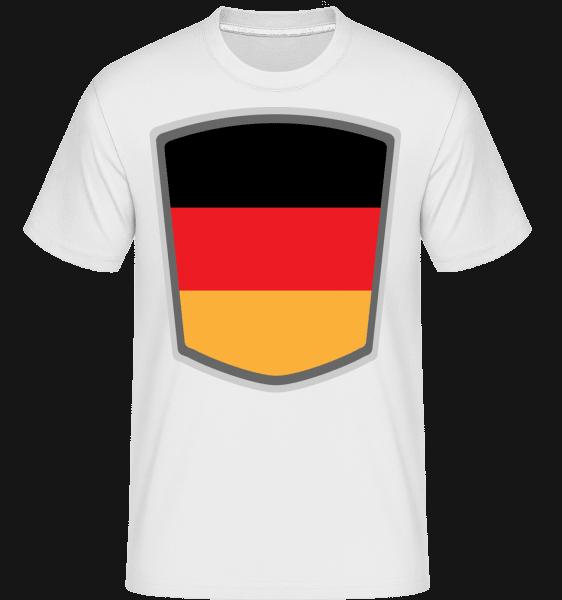 Deutschland Fahne Wimpel - Shirtinator Männer T-Shirt - Weiß - Vorn