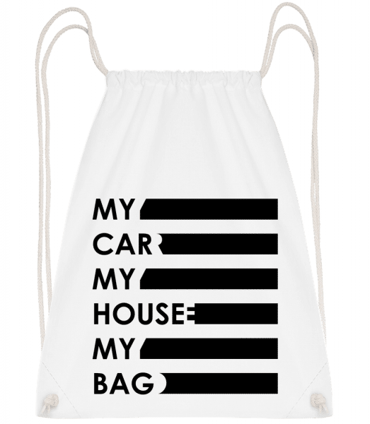 My Car, My House, My Bag - Gym bag - White - Front