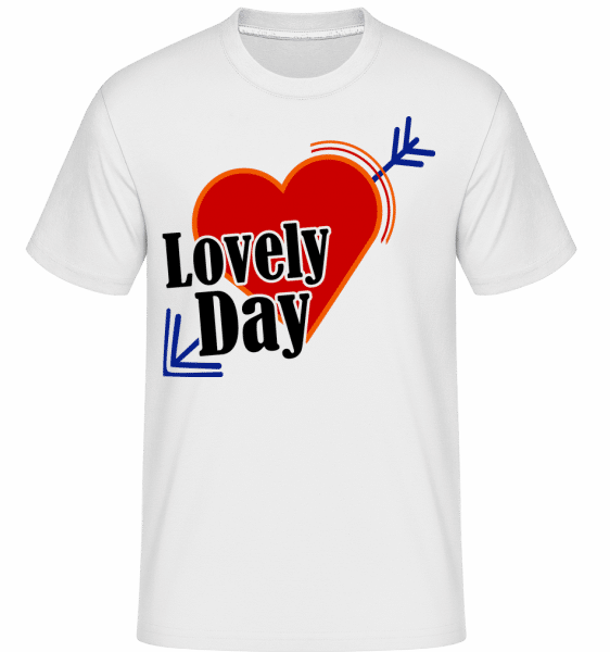 Lovely Day -  Shirtinator Men's T-Shirt - White - Vorn