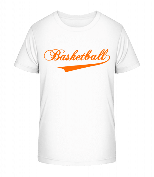 Basketball Stroke - Kid's Premium Bio T-Shirt - White - Vorn