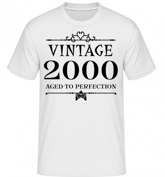 Vintage 2000 Perfection -  Shirtinator Men's T-Shirt - White - Vorn