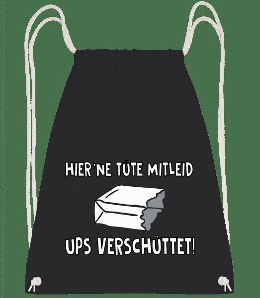 Eine Tüte Mitleid - Turnbeutel - Schwarz - Vorn