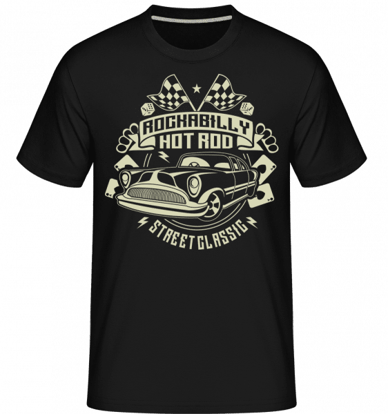 Rockabilly Hotrod -  Shirtinator Men's T-Shirt - Black - Front