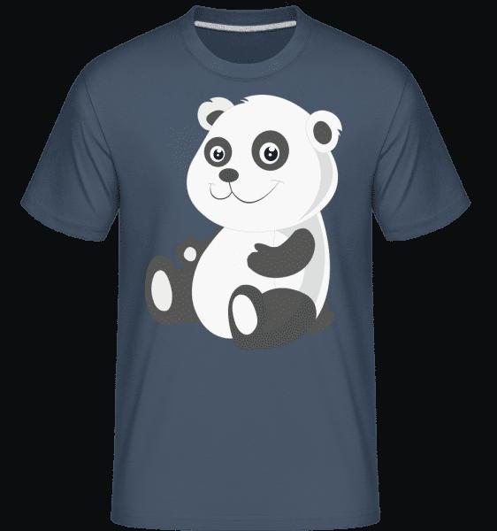 Panda Comic -  Shirtinator Men's T-Shirt - Denim - Vorn