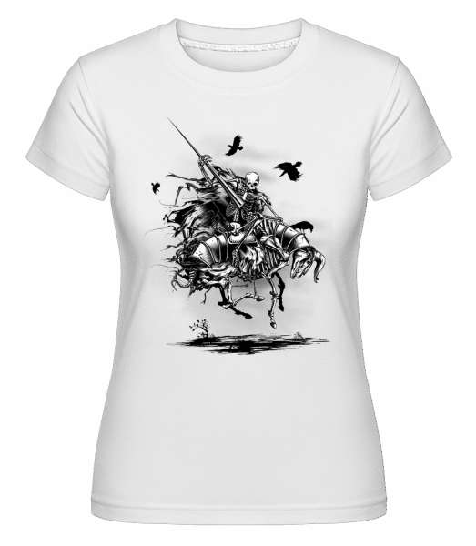 Dead Knight -  Shirtinator Women's T-Shirt - White - Vorn